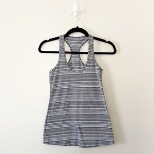 Lululemon Cool Racerback Gray Stripe